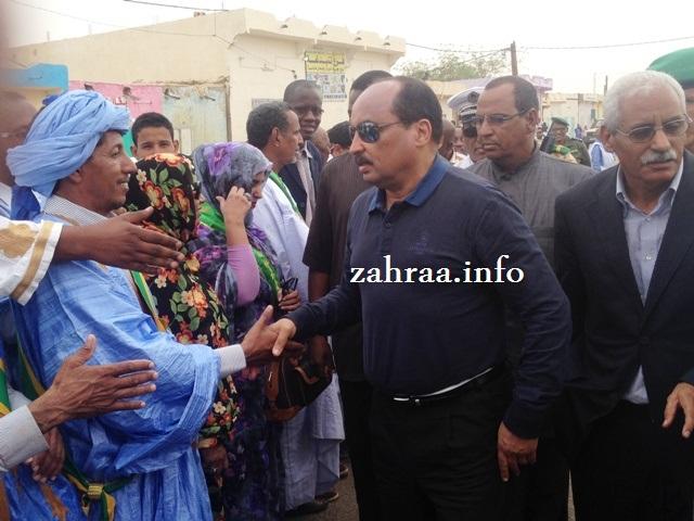 ولد عبد العزيز خلال زيارته للمقاطعة والإطلاع على أوضاع المركز الصحى